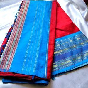 Pure Silk Saree Kancheepuram one side border